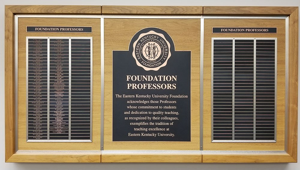 Foundation Professors Plaque