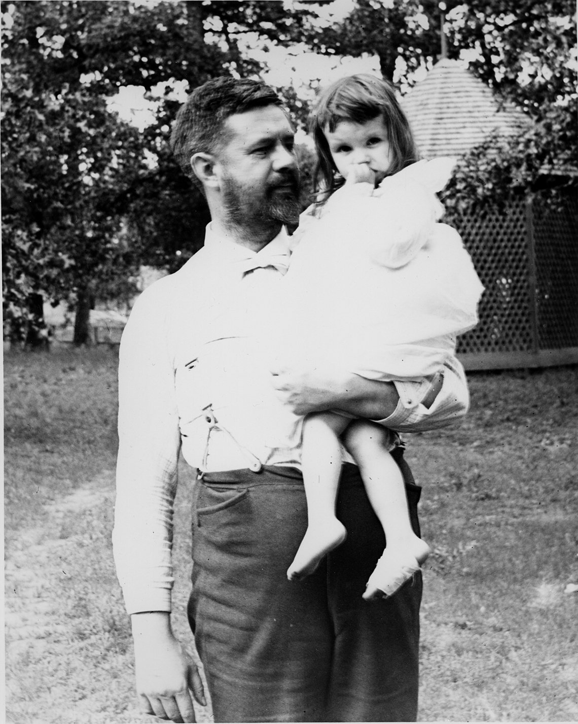 Ruric Roark and his daughter, Kathleen.  Roark Family Papers.