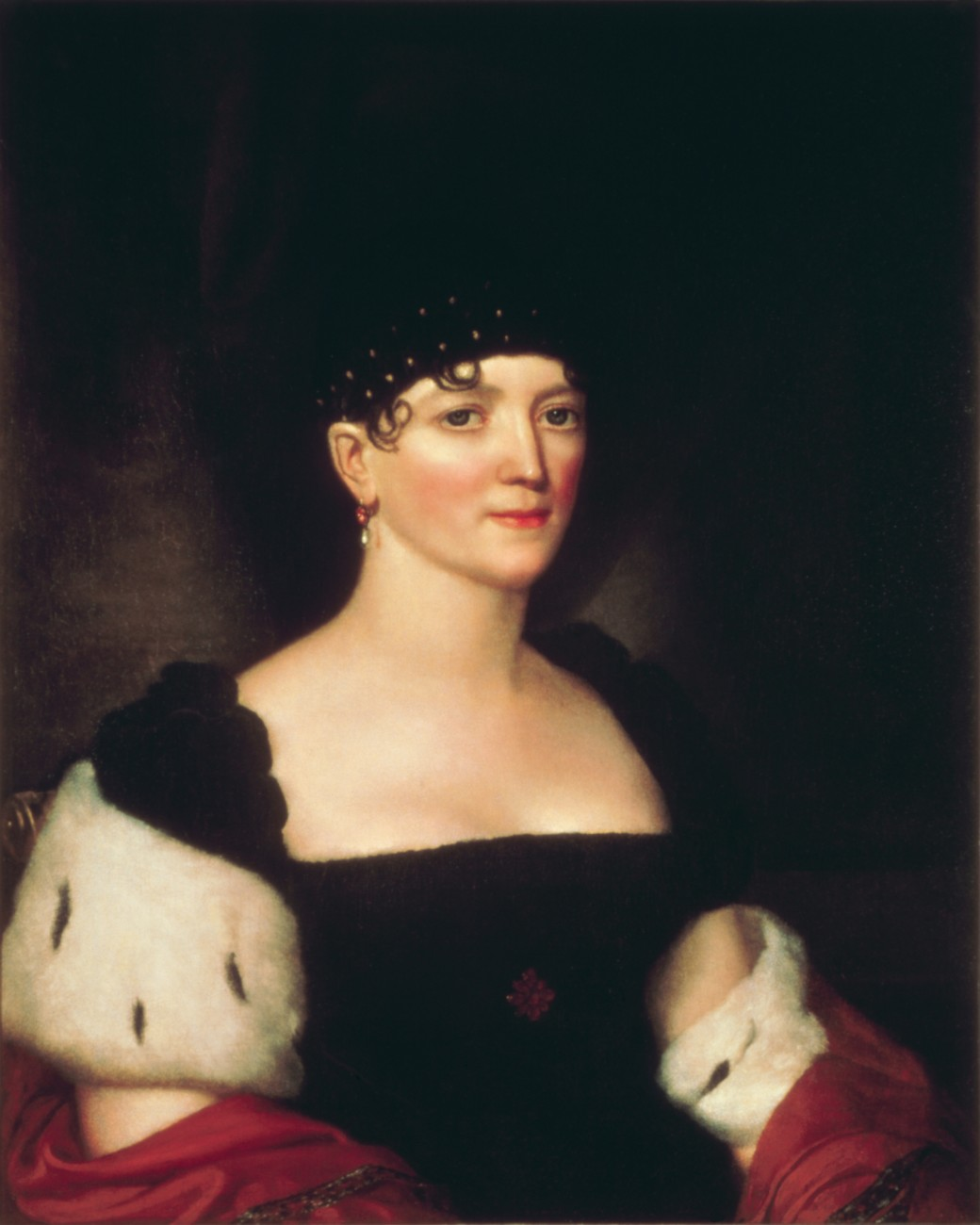 1816 or 1820 portrait of Elizabeth Kortright Monroe by Eben F. Comens after John Vanderlyn