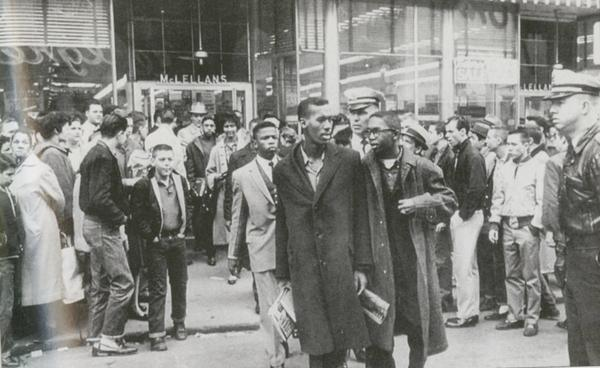 Future Congressman John Lewis was among the student leaders who were arrested on Feb 27, 1960 for protesting against segregation. Lewis would become one of the founding members and chairman of the Student Nonviolent Coordinating Committee (SNCC).