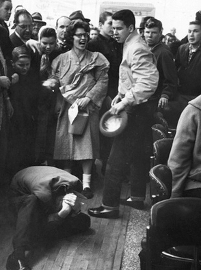 White citizens attacked the students on Feb 27, 1960. Police responded by arresting the students even though they offered no resistance, and the police charged them with disorderly conduct