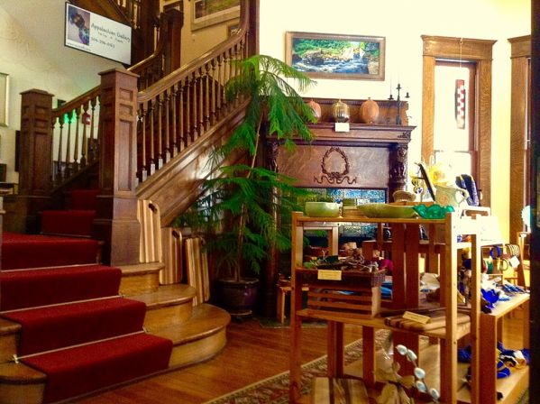The historic house is a perfect setting for the variety of art in the Appalachian Gallery. Photo courtesy of gallery website.