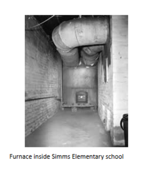 The school's furnace room
