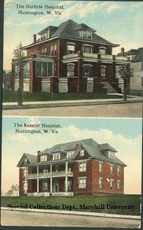 Postcard of Guthrie Hospital, circa 1910
