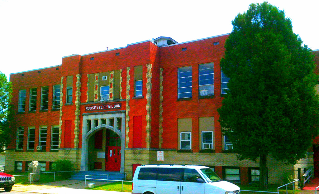 Street view of Roosevelt Wilson High school