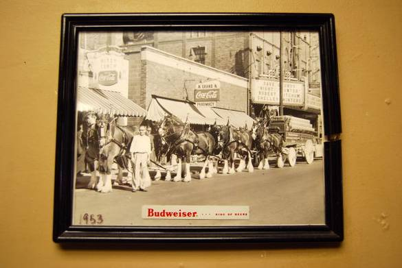 Picture of a parade in 1953 by Ritzy's