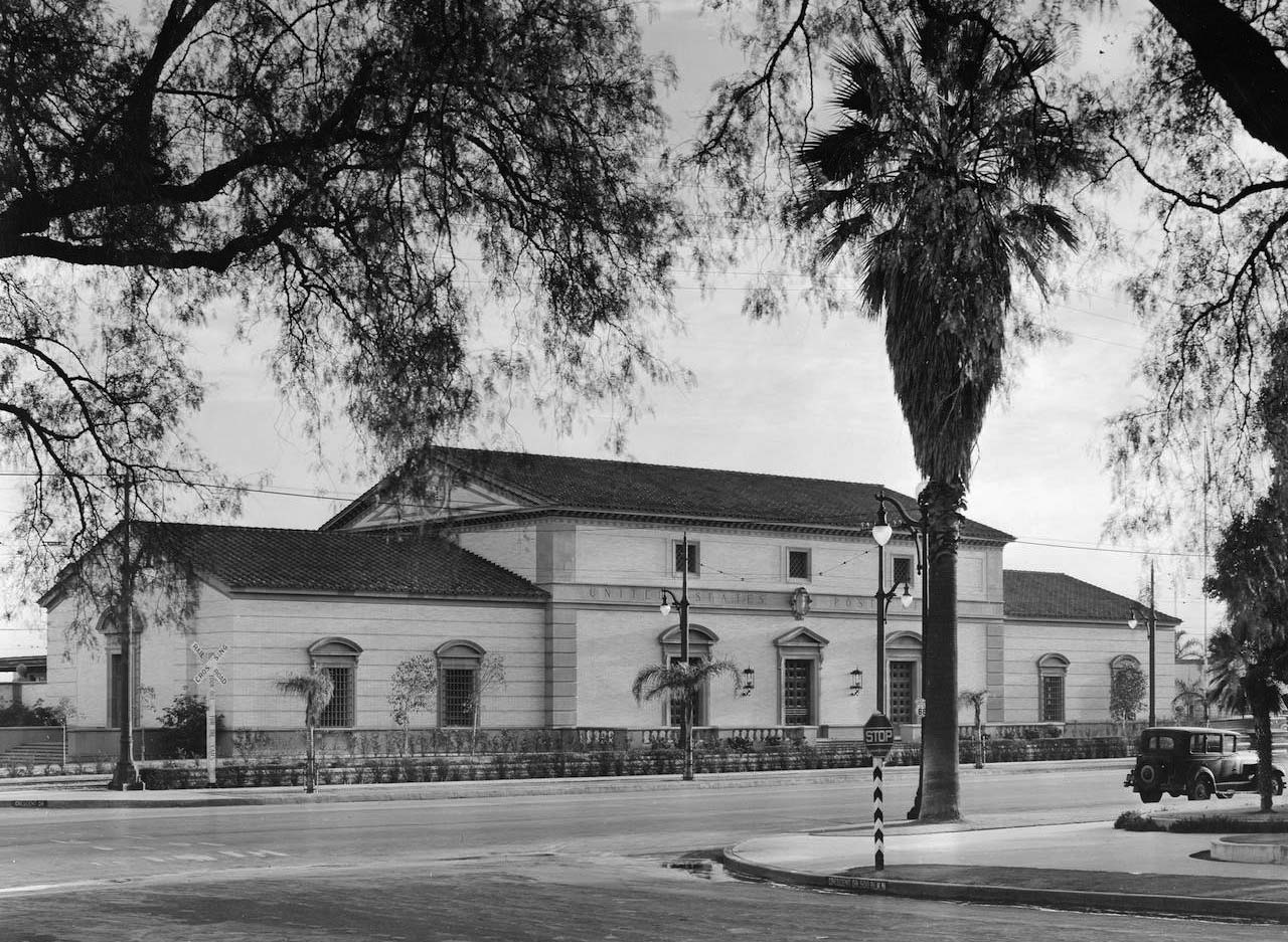 The Beverly Hills Post Office as it looked when it opened in 1936