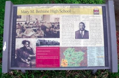 Mary M. Bethune High School Marker