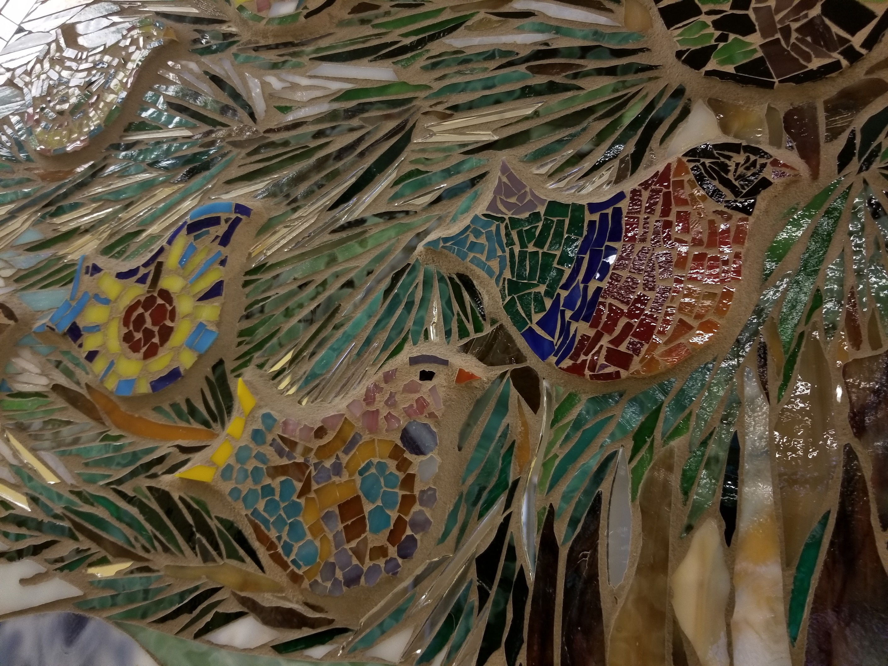 "Detail of ""Wellness"" mosaic, by Deborah Palmer."