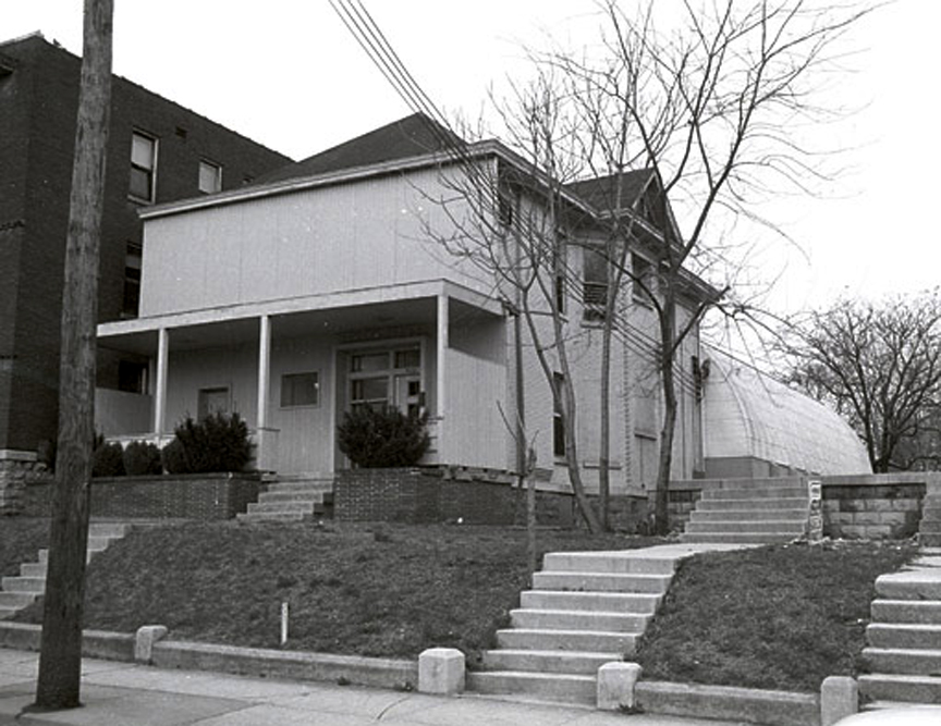 The original studio consisted of a former residential home and an Army surplus Quonset hut. The house was demolished and replaced with a brick structure in the 1960s. Image obtained from Sports and Entertainment Nashville, courtesy of Harold Bradley.