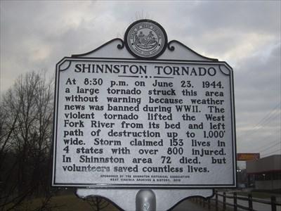 Shinnston Tornado Marker