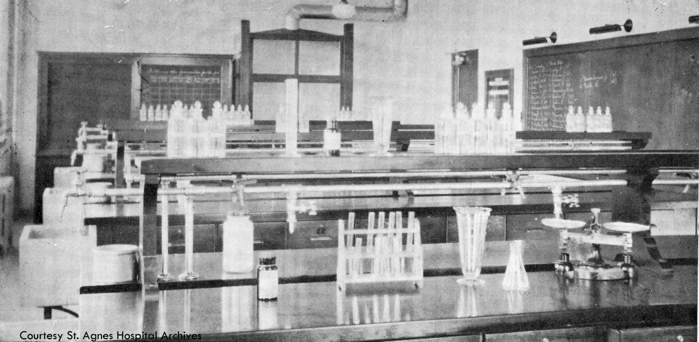 Laboratory classroom at St. Agnes School of Nursing, c. 1931.