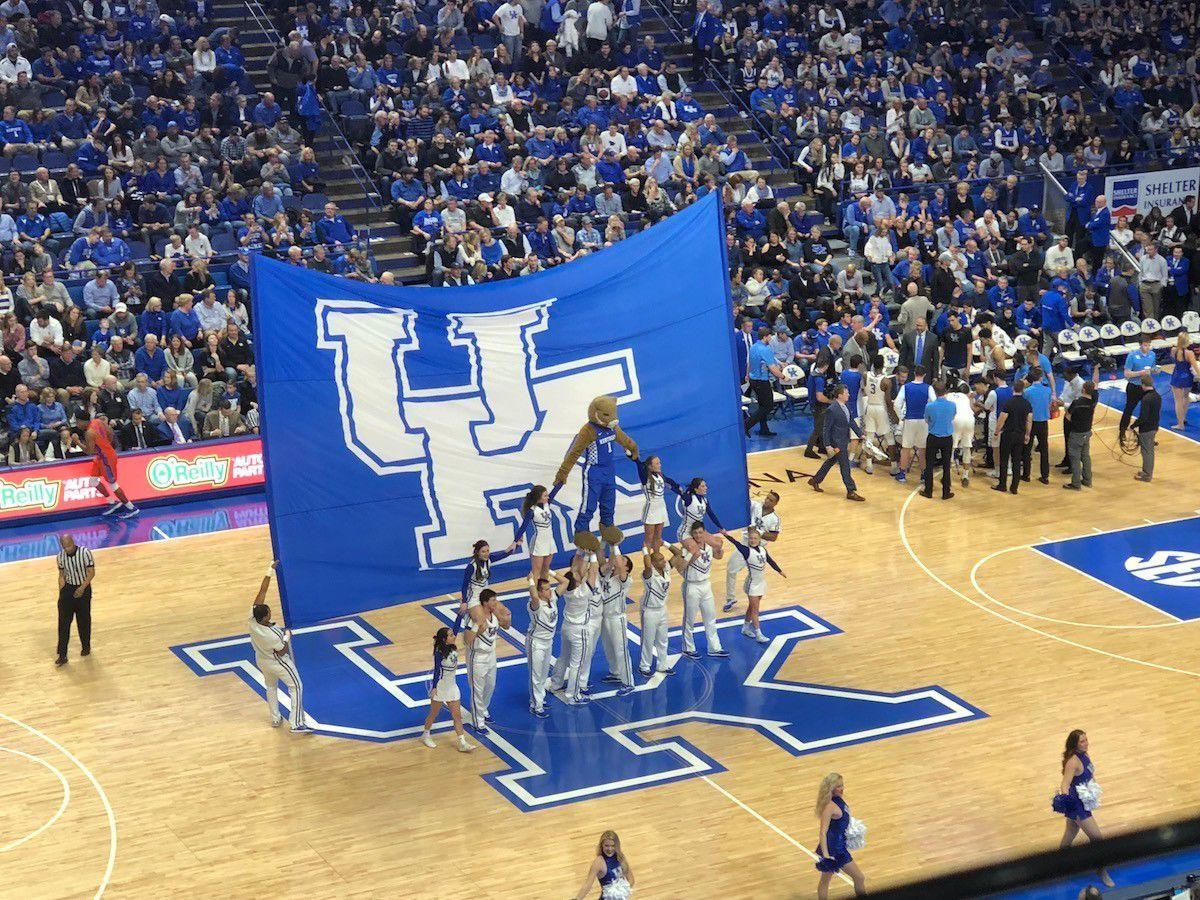 Rupp Arena during a Kentucky Wildcats basketball game.