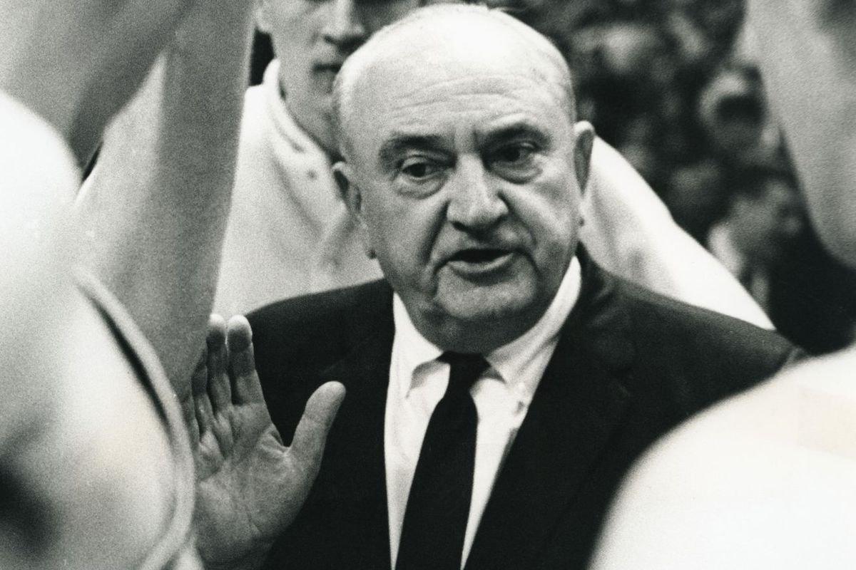 Former University of Kentucky basketball head coach Adolph Rupp.