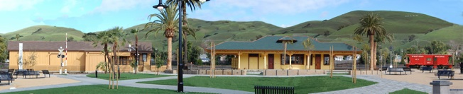 Panoramic View of the Niles Depot