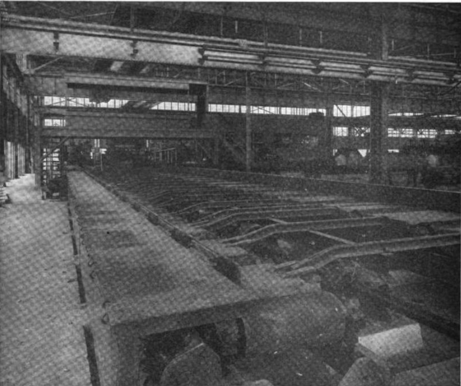 Inside the mill, 1922