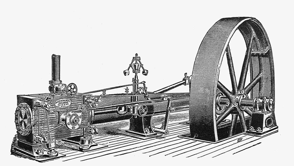 Fraser & Chalmers' horizontal Corliss engine (New Catechism of the Steam Engine, 1904).jpg