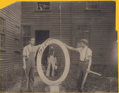 Clinton (left) and Louis (right) Schwamb (unknown figure in center) (image from Old Schwamb Mill official website)