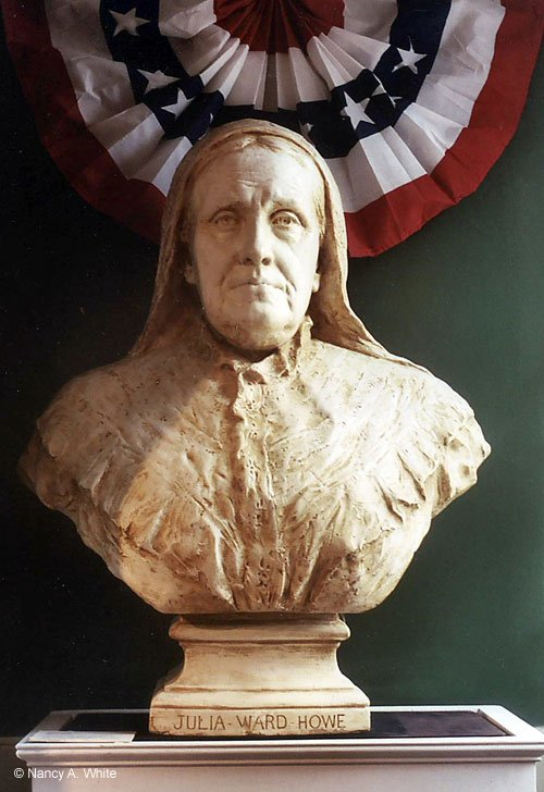 Bust of Julia Ward Howe, abolitionist and proponent of women's rights (image from the Cyrus Dallin Art Museum)