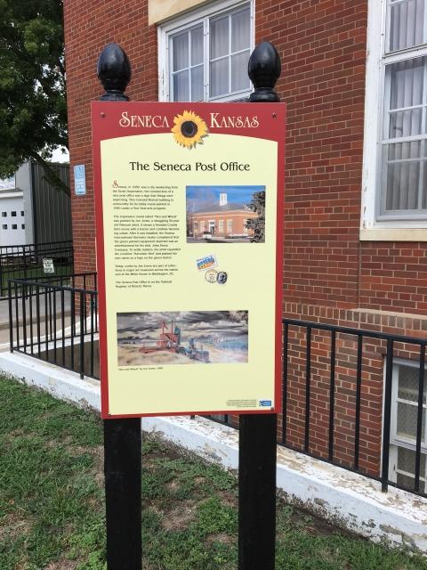 Walking Tour Sign City Of Seneca (KS) Post Office