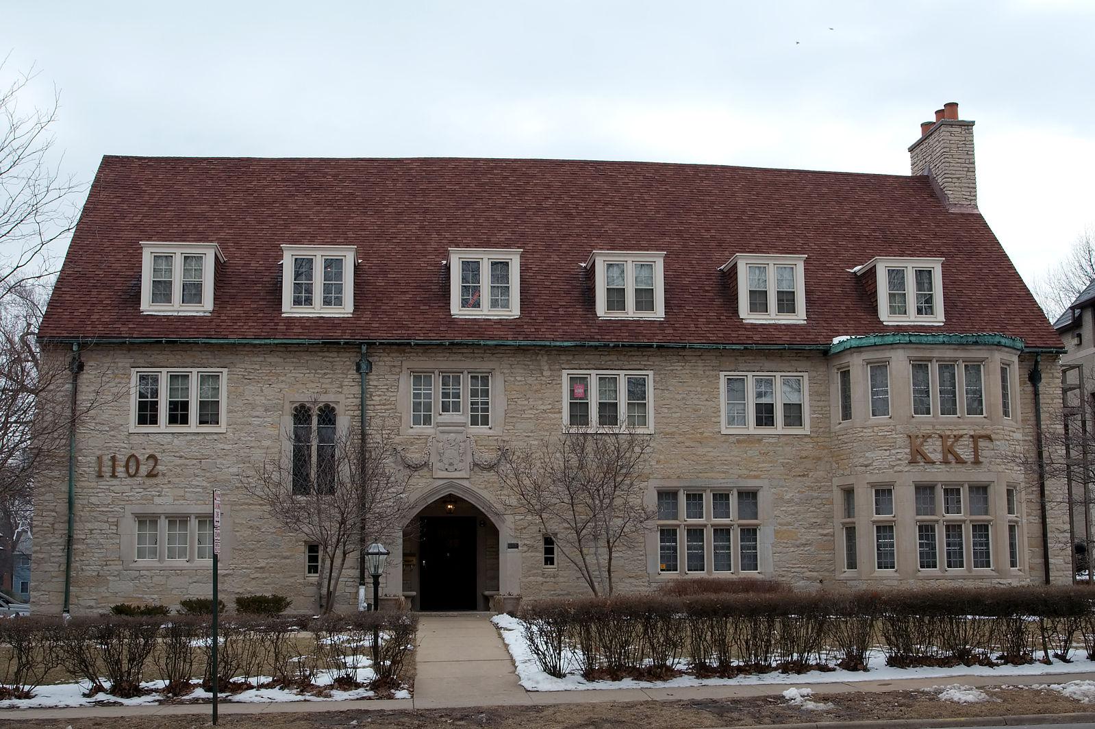 Kappa Kappa Gamma Sorority House https://en.wikipedia.org/wiki/File:KappaKappaGammaSororityHouse_Urbana_Illinois_4419.jpg