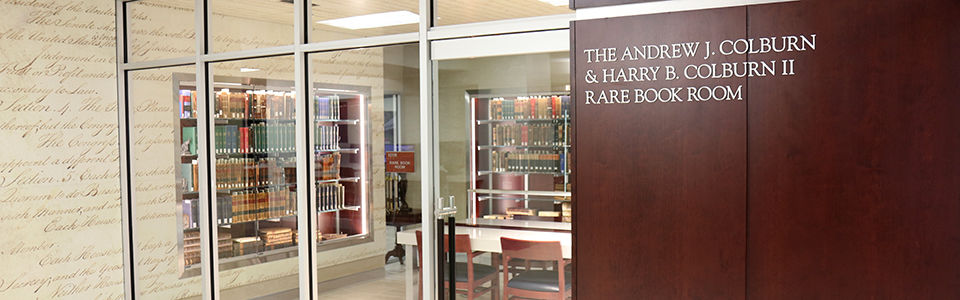 College of Law's Rare Book Room