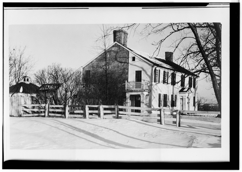 View from the Southwest. 1933. Joseph Smith House, 109 Cushing Street, North Providence, Providence County, RI