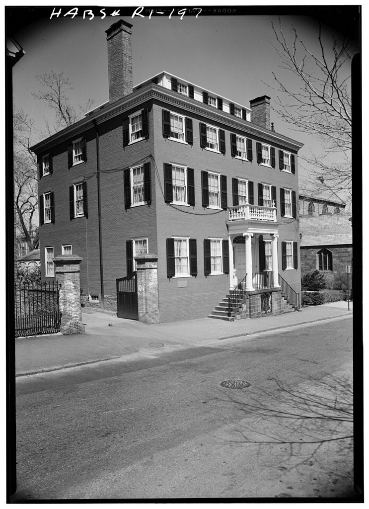 April, 1958 south (front) and west elevations, Joseph Hale House