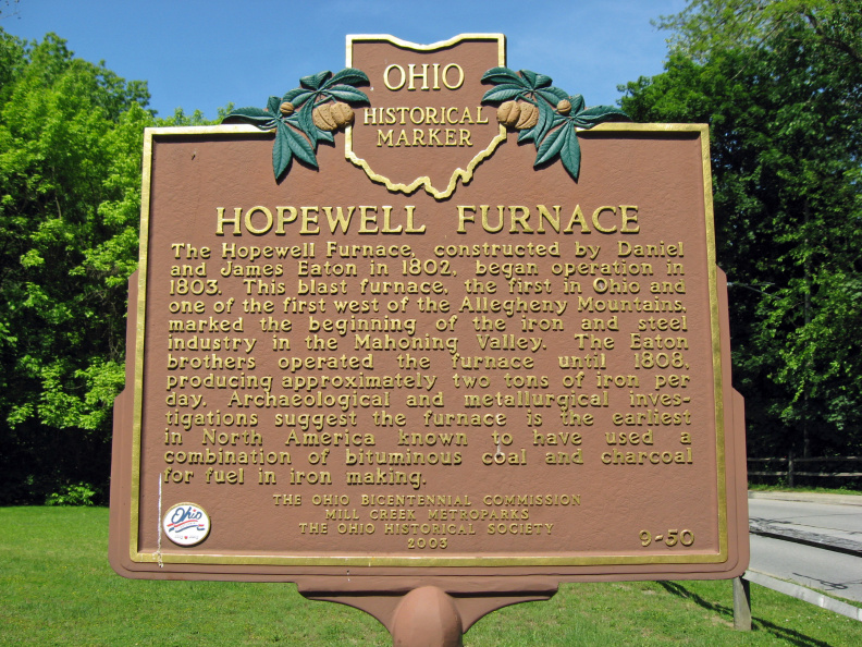 The Hopewell Furnace historical marker