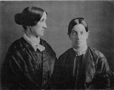 Caroline Putnam and Sallie Holley. Photo from the Massachusetts Historical Society.