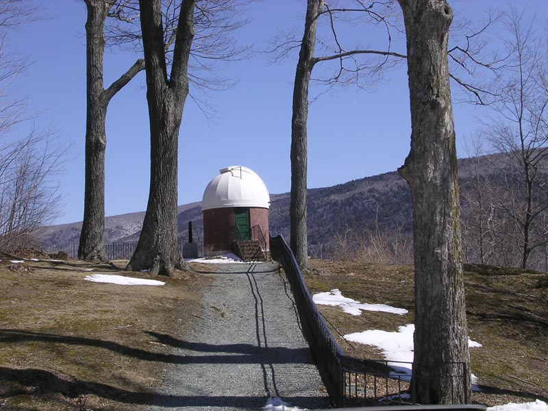 The small observatory Robert Lincoln had built on the property.