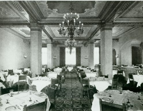 The Dining Room in the Hollywood Roosevelt, ca. 1930s