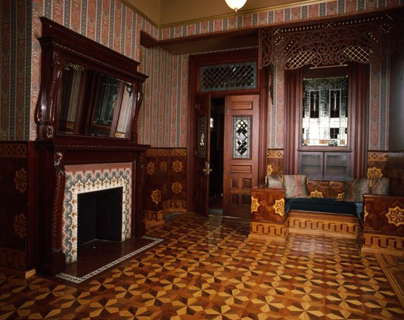 Breezedale's Turkish Room looks much as it did after it was remodeled by the Elkin family in the early 20th century.