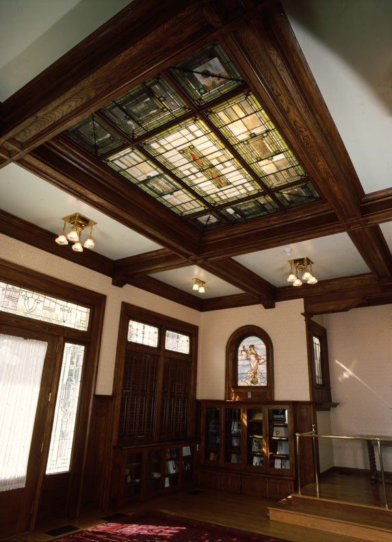 Breezedale's library/solarium was added by the Elkins shortly after purchasing the home in 1899.