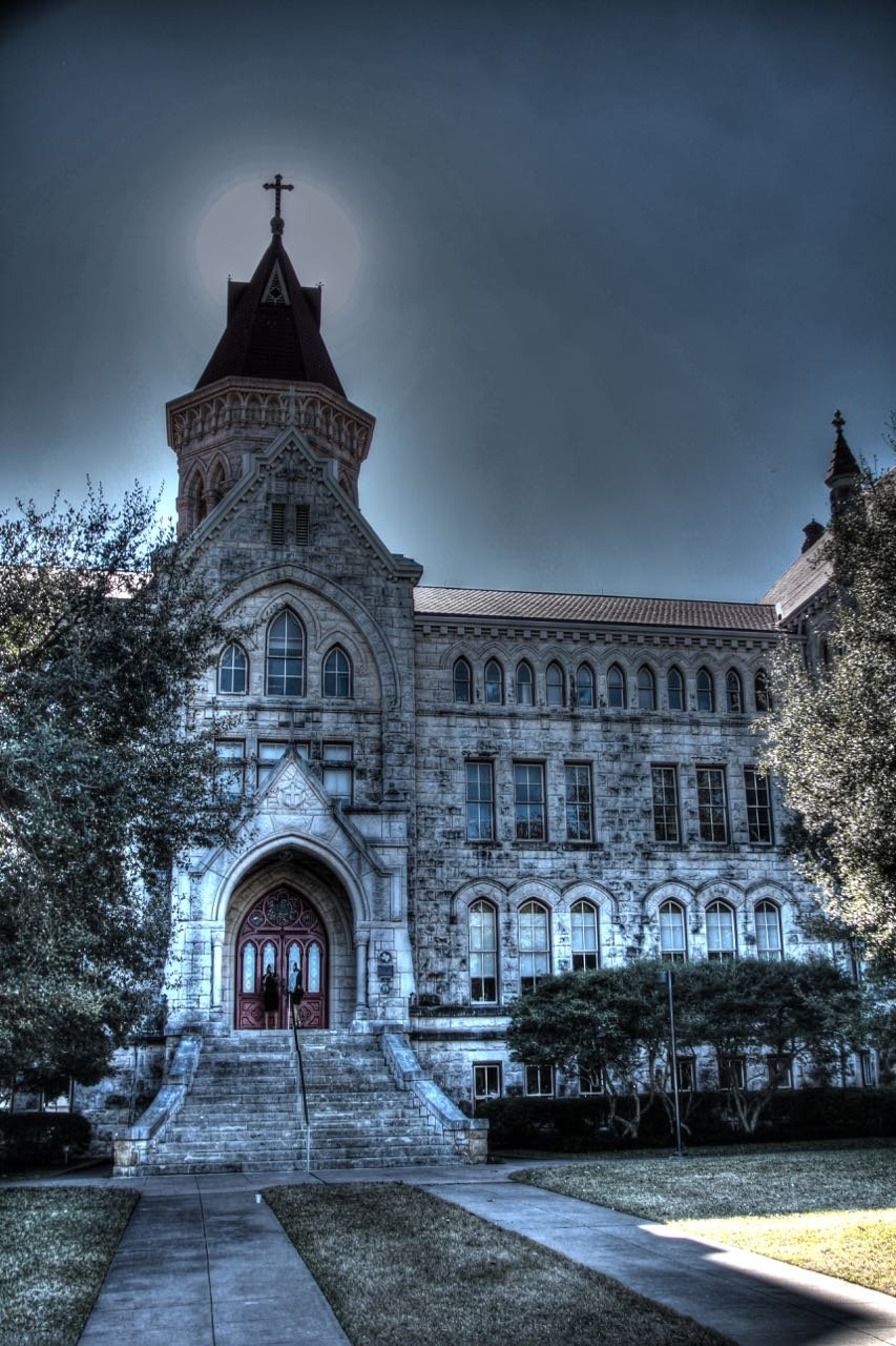 Main Building's age and architecture has convinced generations of students that it is haunted.