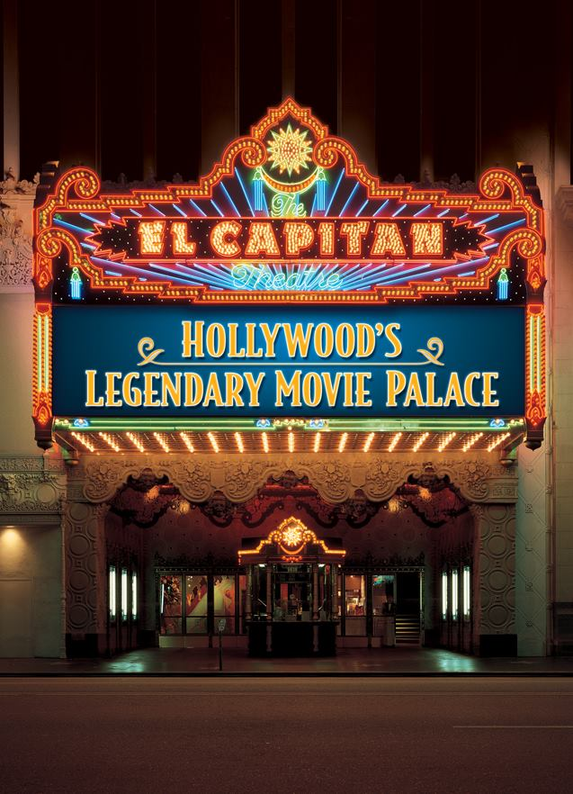 The El Capitan Theatre located on Hollywood Blvd.