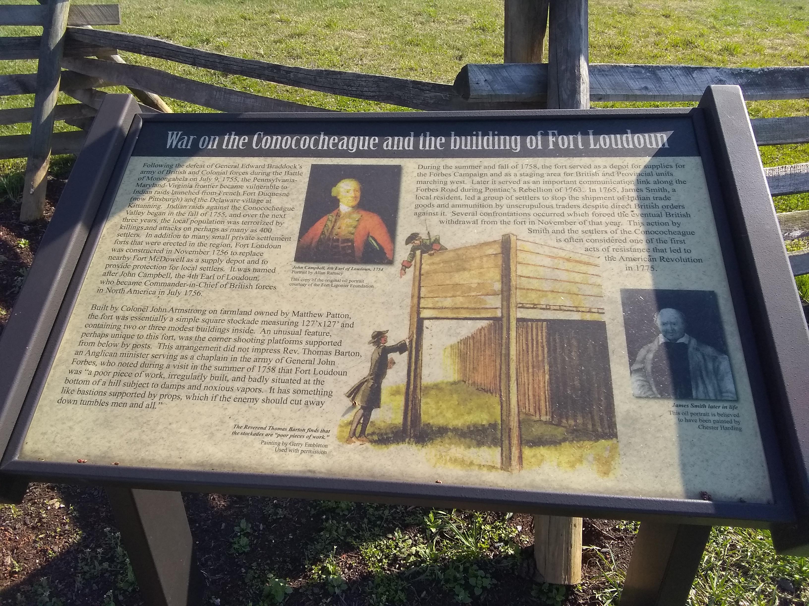 Plaque explaining the fort's construction