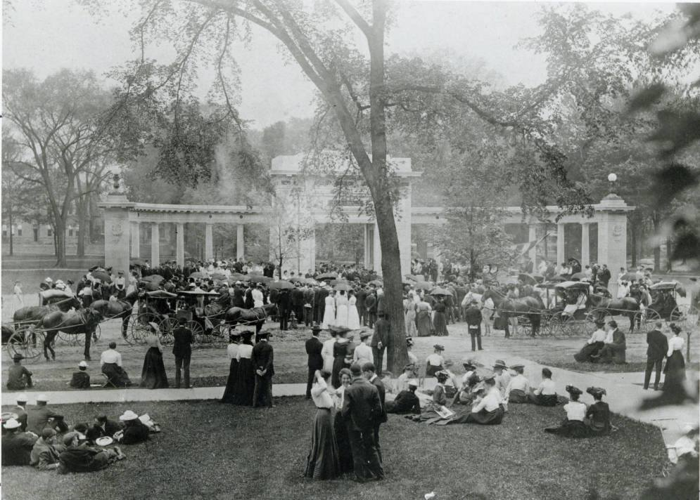 Dedication of Memorial Arch, Tappan Square, 1903