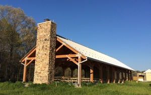 The outdoor picnic pavilion at the Harriet Tubman Underground Railroad Visitor Center.