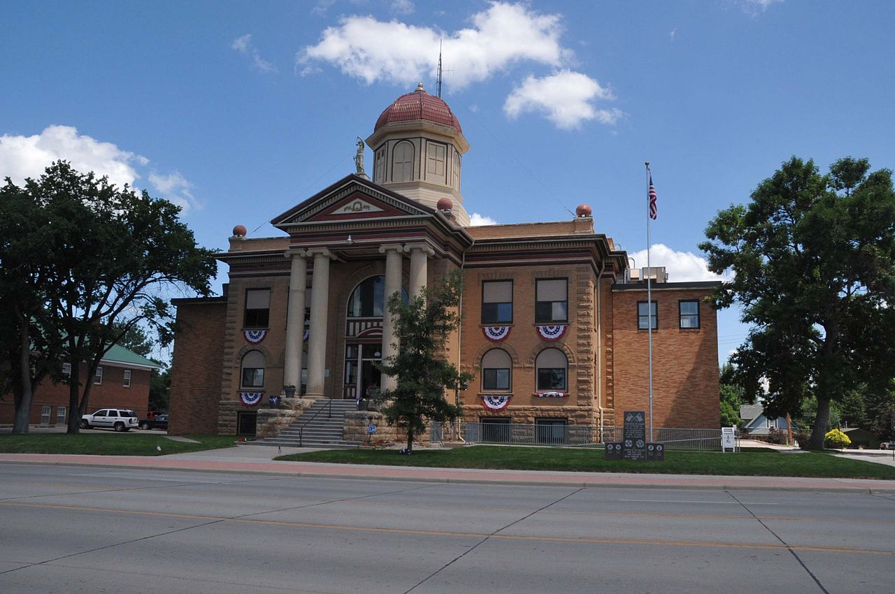 The Butte County Courthouse was built in 1912 and still serves as the county seat.