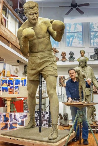 James J. Braddock Statue (in the making)