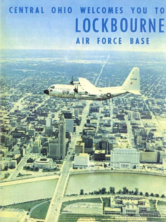 A postcard displaying a C-130