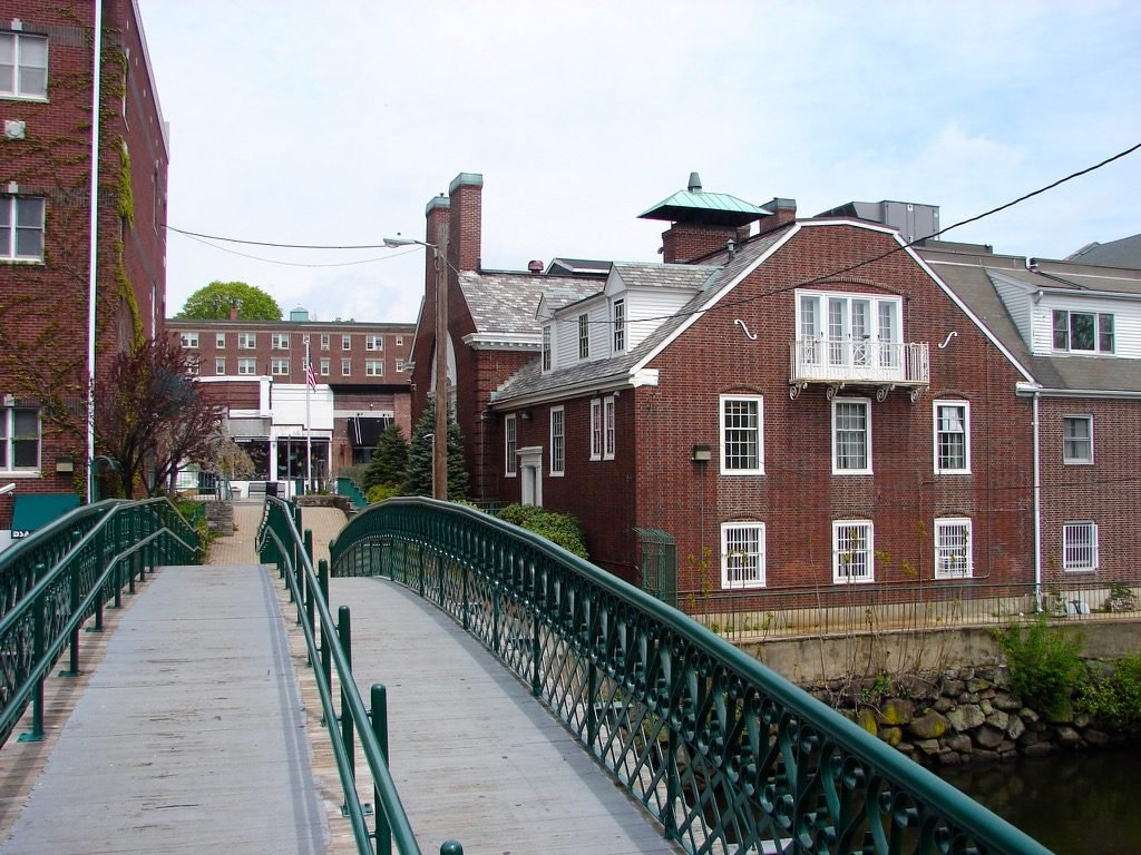Pedestrian Bridge on the Mystic at Medford (image from Freedom's Way National Heritage Area)