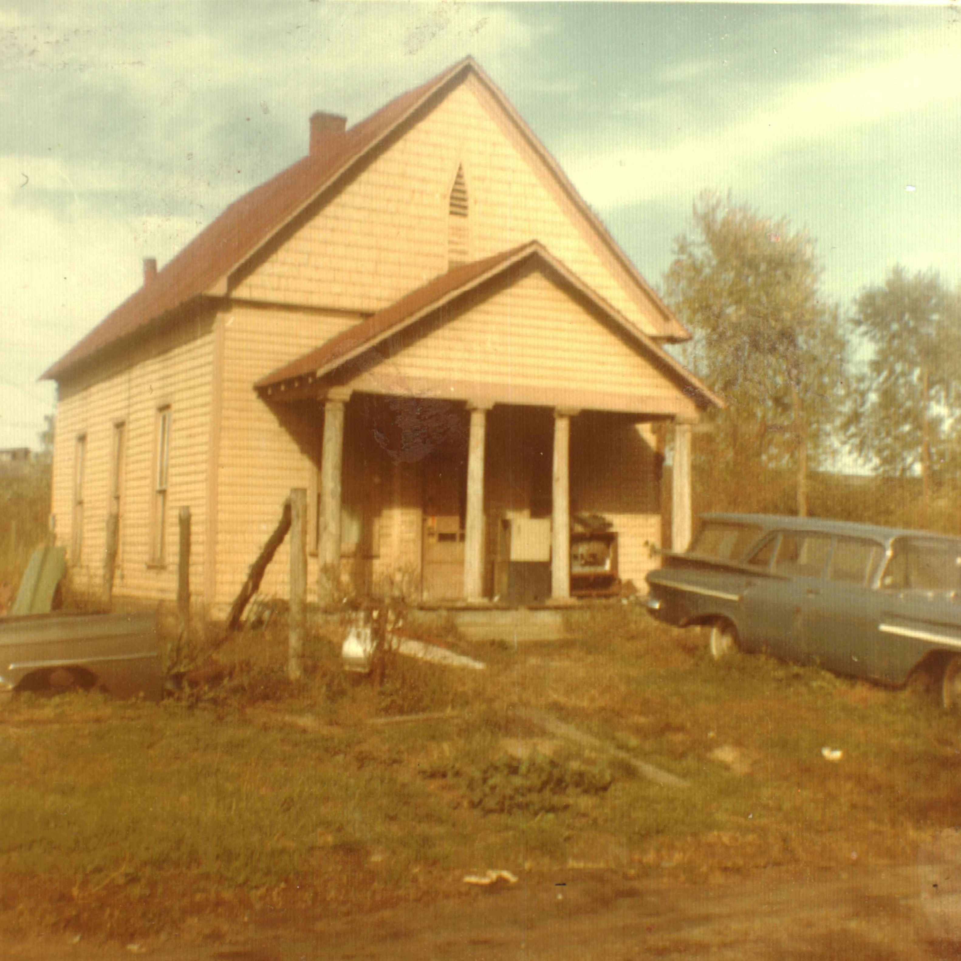 This photo, dated January 1969, shows the schoolhouse after its conversion to a residence. It was only one of a few African American schools in all of Wayne County. Image courtesy of the Ceredo Historical Society Museum.