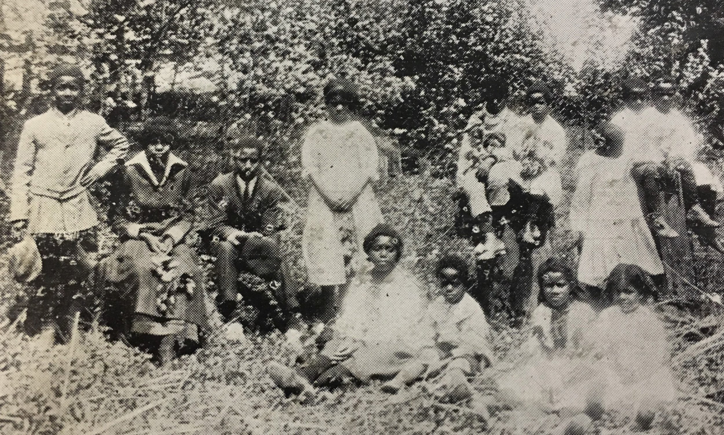 African American students of the Ceredo School in 1915. Image from the 1915 Ceredo-Kenova High School yearbook; courtesy of the Ceredo Historical Society Museum.