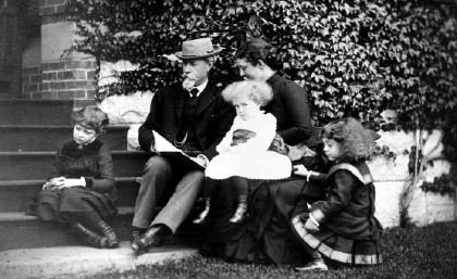 Shepherd Brooks and family (image from Medford-Brooks Estate Land Trust Archives)
