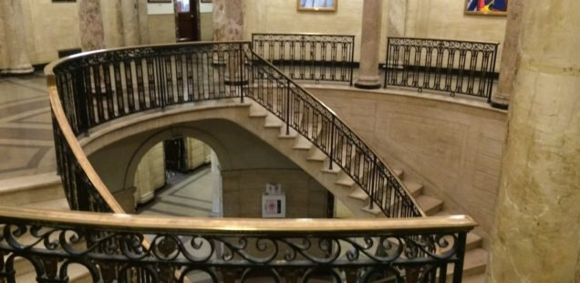 Central staircase (image from Medford Arts Council)