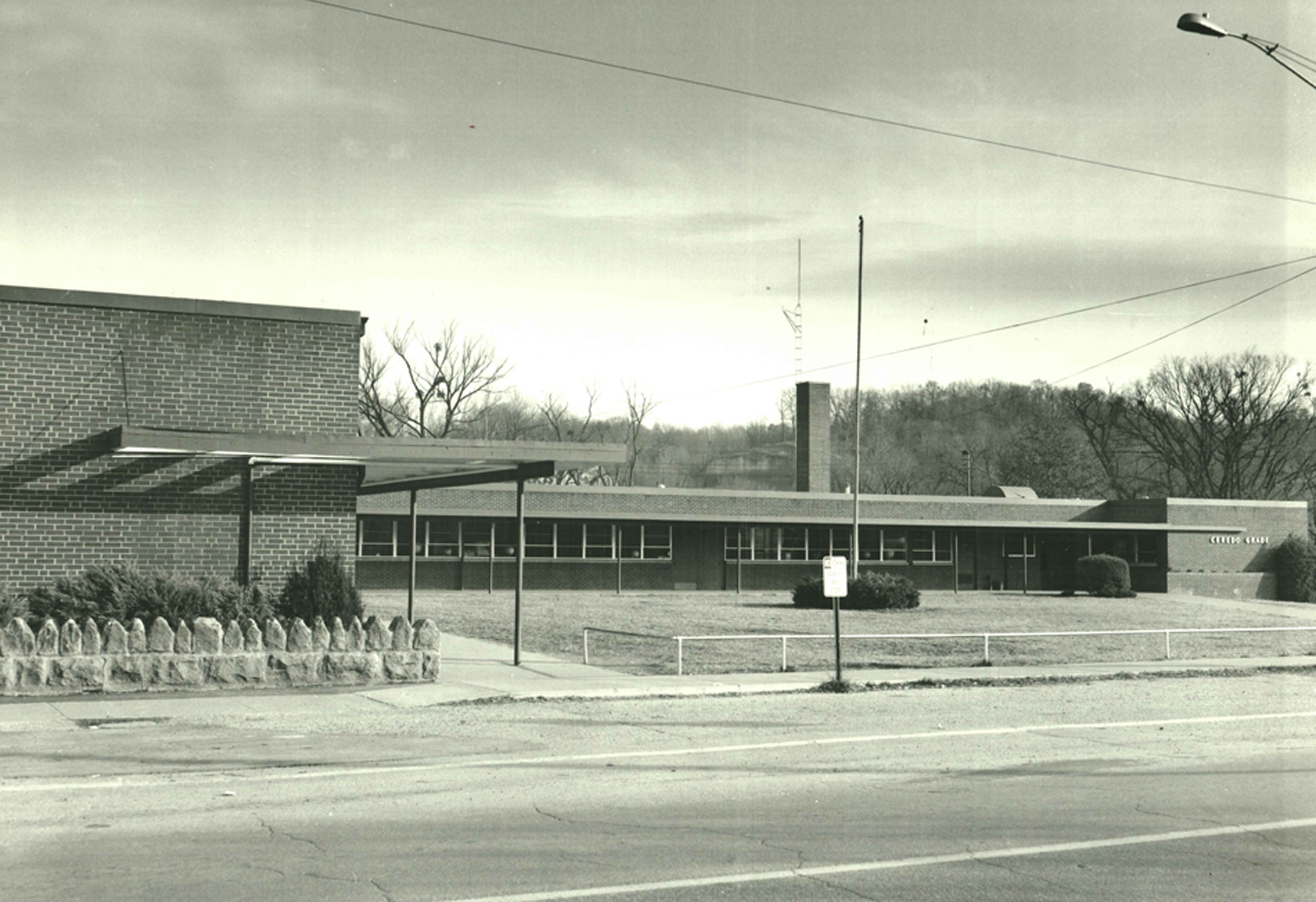 The final Ceredo Elementary School building sometime after its opening in December 1957. Image courtesy of the Ceredo Historical Society Museum.