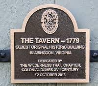The Tavern historic plaque