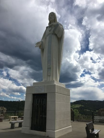 This statue of Jesus Christ is 22 feet tall.